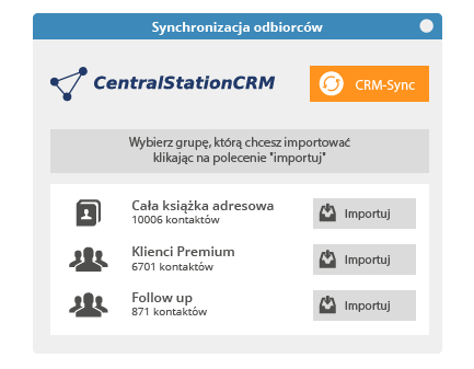 Central Station CRM Newsletter Integracja